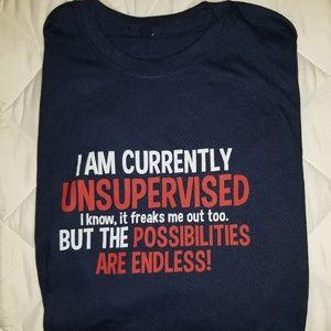 "NWOT ""Unsupervised"" Tshirt"
